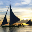 Stock Photo: Paraw outrigger sunset tour boracay