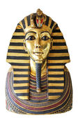Egyptian king tut golden death mask — Stock Photo