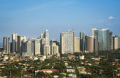 Fort bonifacio skyline makati city manila philippines — Stock Photo