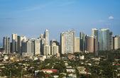 Fort bonifacio skyline makati city manila philippines — Stock Photo