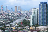 Pasig river makati manila the philippines — Stock Photo