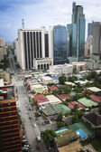 Makati avenue manila cityscpe philippines — Stock Photo