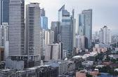 Viale makati manila filippine cityscpe — Foto Stock