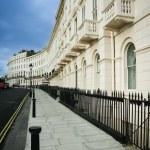Regency houses brighton street england — Stock Photo #16035527