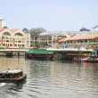 Stock Photo: Clarke quay riverside singapore city