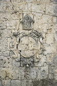 Coral block wall loboc church — Stock Photo