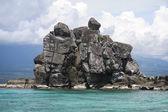 Apo island rock negros filipiny — Zdjęcie stockowe