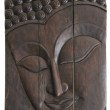 Wooden budda art wall panels — Stock Photo