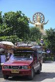 Songthaew parte táxi koh samui tailândia — Foto Stock