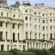 Stock Photo: Brighton street regency period flats