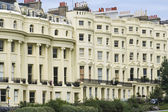 Brighton street regency period flats — Stock Photo