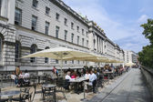 Street cafe london somerset house — Stock Photo