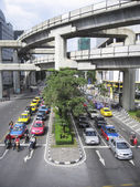 Bangkok traffic siam sqaure mrt — Stock Photo