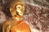 Golden buddha statue bangkok thailand — Stock Photo