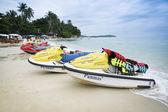 Jet skis koh samui beach — Stock Photo