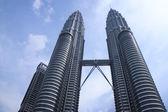 Petronas towers kuala lumpur maleisië — Stockfoto