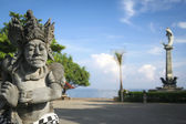 Lovina bali main sqaure statues — Stock Photo
