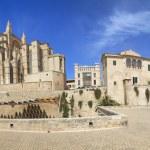 Palma Cathedral Old City Walls Majorca — Stock Photo