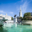 Trafalgar square london summer day — Stock Photo