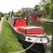Barge grand union canal berkhamsted — Stock Photo