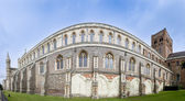 St albans cathedral wall england — Stock Photo