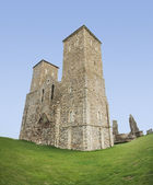Reculver towers roman fort herne bay — Stock Photo
