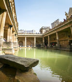 Roman baths hot spring pool — Stock Photo