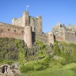 Stock Photo: Bamburgh castle northumberland coast