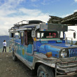 Stock Photo: Banaue to batad jeepney philippines