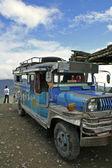 Banaue to batad jeepney philippines — Stock Photo