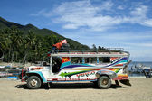 Colorful jeepney philippines local transport — Stock Photo