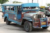Battered Jeepney Angeles Philippines — Stock Photo