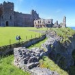 Tantallon castle ruins scotland tourism — Stock Photo