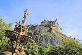 Ross fountain edinburgh castle scotland — Stock Photo