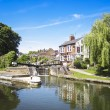 Pub grand union canal berkhamsted — Stock Photo