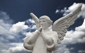 Angel and Sky — Stock Photo