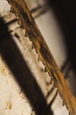 Metal saw blade. Abctract photo. work tools — Stock Photo