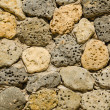 Masonry of hole stones. Natural texture — Stock Photo
