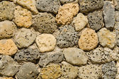 Masonry of hole stones. Natural texture — Photo