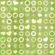 Many shapes of heart, stars and circle on grunge backgrounds — Stock Photo #34072461
