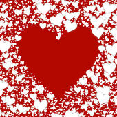 Shape from different white hearts on red backgrounds. Valentine' — Stock Photo