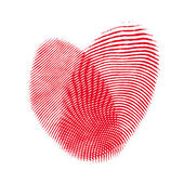 Heart from two fingerprint. Concept love backgrounds — Stock Photo