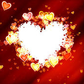 Hearts frame of Valentine's day with clipping path. Love texture — Stock Photo