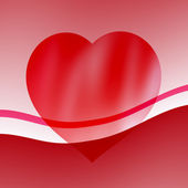 Red hearts for Valentine's day — Stock Photo