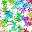 Many multicolored stars background with neon shining — Stock Photo