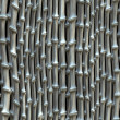 Silver bamboo fence backgrounds. abstract pattern — Stock Photo