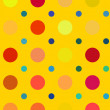 Multicolored bright polka dots pattern. Abstract backgrounds — Stock Photo