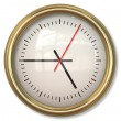 Classical Simple Clock Face with Arrows in White backgrounds — Stock Photo