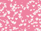 Many white hearts background of Valentine's day. Love texture — Stock Photo