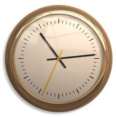 Classical Simple Clock Face with Arrows in White backgrounds — Stockfoto